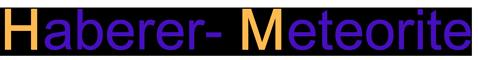 Haberer Meteorite-Logo